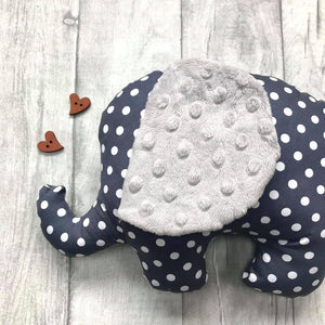 Stuffed  Elephant soft toy - Grey Spots - Sewn by Sarah - new baby gift - nursery - children