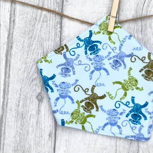 Monkeys Bandana Bib - baby bib - baby, toddler gift - Sewn by Sarah