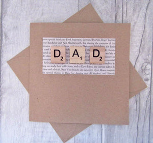 Dad Greetings Card - Sewn by Sarah - birthday, Fathers Day
