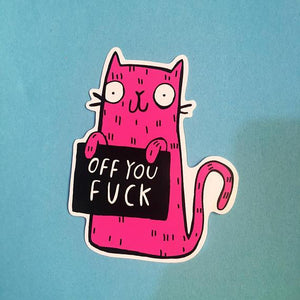 Sweary Stickers Pack - motivational - sweary - stickers - Katie Abey