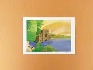 Newmillardam Print - Illustrator Kate - A4 print - Yorkshire gifts
