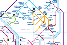 Order Around Pub Map Poster - York City Edition - London Underground style Poster - Pub Map York
