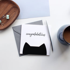 Congratulations Card - Purple Tree Designs - cat lovers