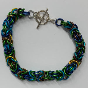 Chain-Maille bracelets - unusual jewellery - colourful bracelets - Indigo Plum Creations
