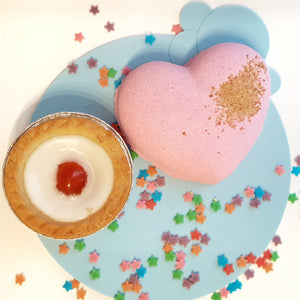 Sweet Heart Bath Bomb - Little Shop of Lathers -heart shaped sweet smelling bath bombs - Bath treats