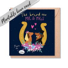 Load image into Gallery viewer, Plantable Bean Greetings Card - Wedding - Brand new Mr and Mrs