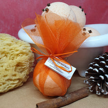 Load image into Gallery viewer, Christingle Bath Bombs - Little Shop of Lathers - handmade bath treat - Christmas gift ideas