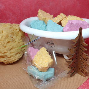 Tree Wishes Mini Christmas Tree Bath Bombs - Little Shop of Lathers - handmade bath treat - Christmas gift ideas