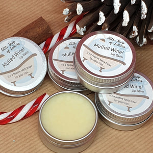 Mulled Wine Lip Balm - Little Shop of Lathers - handmade lip treat - Christmas gift ideas