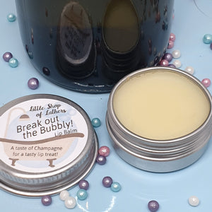 Break out the Bubbly Lip Balm - Little Shop of Lathers - handmade lip treat - Christmas gift ideas