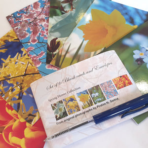 Flower/Floral themed notecard pack - Paperweight Products - set of 6 notelets