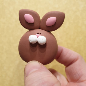 Bunny Rabbit - Pebble pet - polymer clay - LittleBigNose - animal lovers