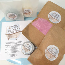 Load image into Gallery viewer, Little Box of Self Care - pampering bath and body gift set - Little Shop of Lathers