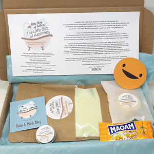 Little Box of Happiness - pampering bath and body gift set - Little Shop of Lathers