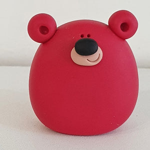 Bear - polymer clay pebble pets - LittleBigNose - animal lovers