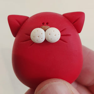 Cats - polymer clay pebble pets - LittleBigNose - animal lovers - cat lovers