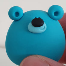 Load image into Gallery viewer, Bear - polymer clay pebble pets - LittleBigNose - animal lovers