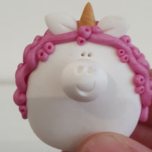Load image into Gallery viewer, Unicorn - polymer clay pebble pets - LittleBigNose - animal lovers - magical