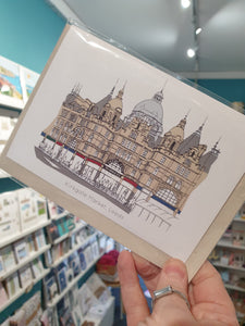 Leeds Kirkgate Market card - Greetings Card - Accidental Vix Prints - Leeds illustrations