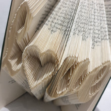 Load image into Gallery viewer, Folded Book Art - Book Words - Love - Paperweight Products - gift idea