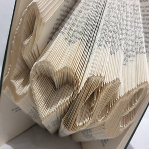 Folded Book Art - Book Words - Love - Paperweight Products - gift idea