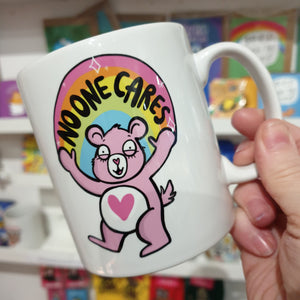 No One Cares Mug - Care Bear - Katie Abey - Bright and colourful