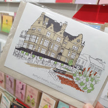 Load image into Gallery viewer, Bettys Tearoom Greetings Card - Harrogate - Accidental Vix Prints - Yorkshire illustrations