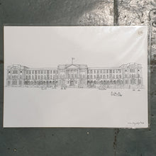 Load image into Gallery viewer, Leeds Beckett House Campus Illustration - A4 print - Art by Arjo - Leeds artwork