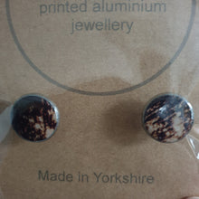 Load image into Gallery viewer, Printed Aluminium Cufflinks - Sarah Sanders Aluminium Jewellery