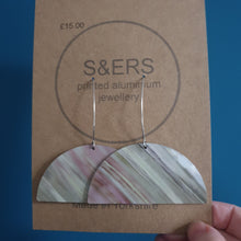Load image into Gallery viewer, Semi Circle Printed Aluminium Earrings - Sarah Sanders Aluminium Jewellery