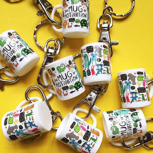 Mini Mug of Motivation Keyring