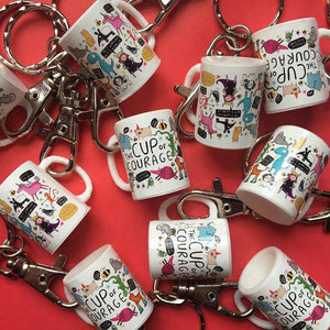 Mini Cup of Courage Keyring - Katie Abey Design - motivational gifts
