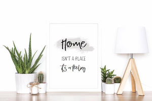 Home isn't a place, it's a feeling - A4 print - I Heart Henry - New home gift