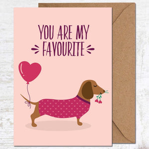 Cute Greetings card - you are my favourite