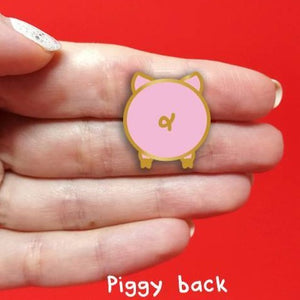 Piggy Back enamel pin - animal butts!