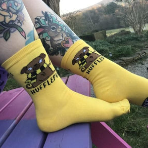 Houses of Hogwarts Socks - Puns - Katie Abey - Magical Gifts