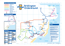 Load image into Gallery viewer, Order Around Pub Map Poster - Bridlington Edition - London Underground style Poster - Pub Map