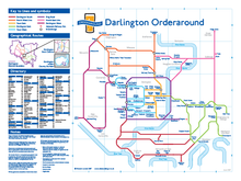 Load image into Gallery viewer, Order Around Pub Map Poster - Darlington Edition - London Underground style Poster - Pub Map York