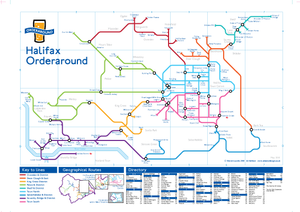Order Around Pub Map Poster - Halifax Edition - London Underground style Poster - Pub Map