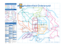 Load image into Gallery viewer, Order Around Pub Map Poster - Huddersfield Edition - London Underground style Poster - Pub Map
