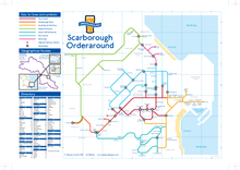Load image into Gallery viewer, Order Around Pub Map Poster - Scarborough Edition - London Underground style Poster - Pub Map