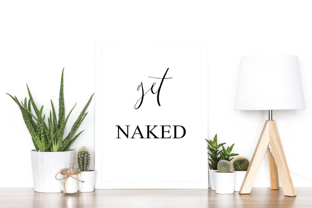 Get Naked - A4 print - I Heart Henry