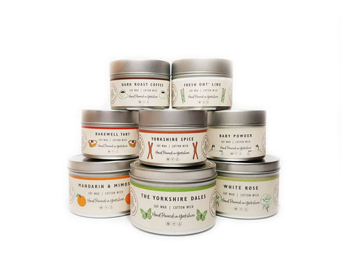 Yokrshire Candle co range of candles