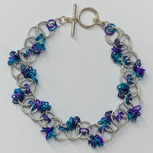 Load image into Gallery viewer, Chain-Maille bracelets - unusual jewellery - colourful bracelets - Indigo Plum Creations