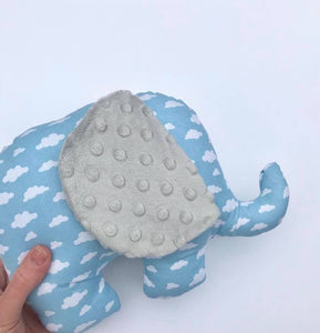 Stuffed  Elephant soft toy - Clouds - Sewn by Sarah - new baby gift - nursery - children