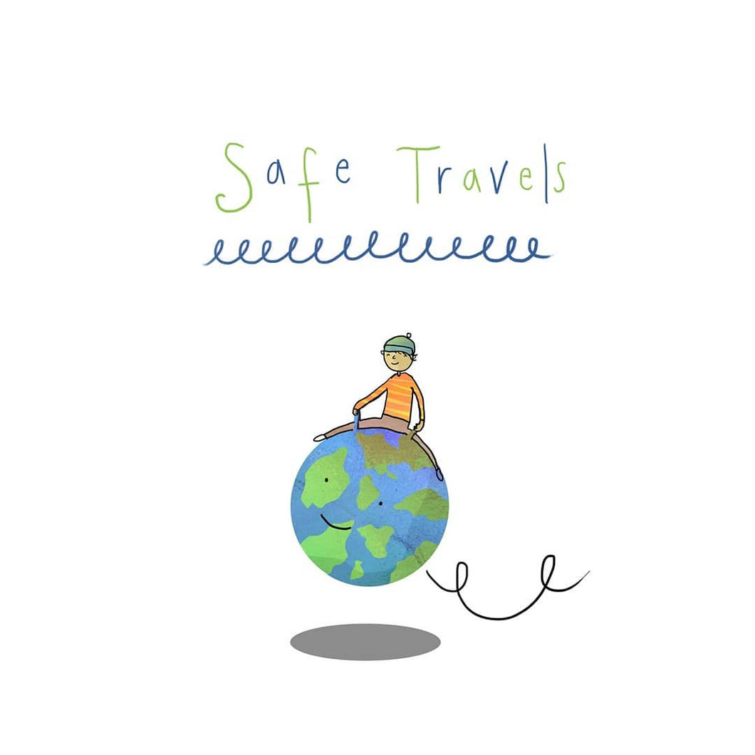 Safe Travels - Greetings Card - Illustrator Kate