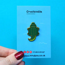 Load image into Gallery viewer, Crocodile enamel pin - animal butts - Crackodile - Innabox