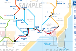 Order Around Pub Map Poster - Bridlington Edition - London Underground style Poster - Pub Map
