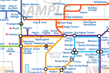 Load image into Gallery viewer, Order Around Pub Map Poster - Hull City Edition - London Underground style Poster - Pub Map