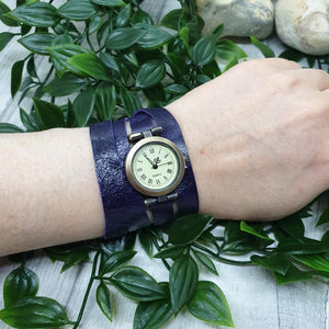 Leather Wrap Watch - Shadow Crafts - gift idea - recycled leather
